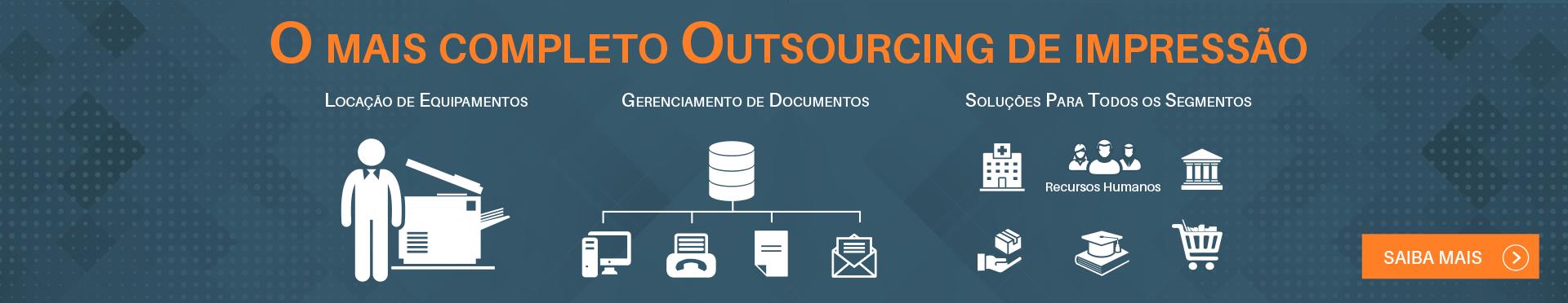 Outsourcing,locação de impressoras, multifuncionais e scanners.