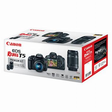 Kit Premium Câmera Digital EOS Rebel T5 EF-S 18-55mm f/3.5-5.6 III | EF-S 55-250mm f/4-5.6 IS II - Canon