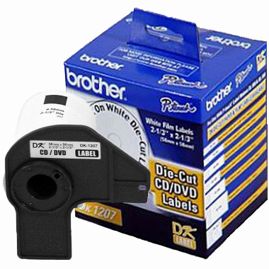 Etiqueta para CD/DVD DK1207 58x58mm (Rolo c/ 100 unds) - Brother