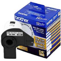 Etiqueta para CD/DVD DK1207 58x58mm (Rolo c/ 100 unds) - Brother