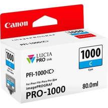 TINTA PIGMENTADA CIANO PFI1000C IPF PRO1000  80 ML  CANON - 0547C003AA