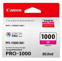 TINTA PIGMENTADA MAGENTA PFI1000M IPF PRO1000  80 ML  CANON - 0548C003AA