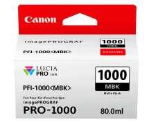 TINTA PIGMENTADA  PFI1000MBK IPF PRO1000  -  CANON - 0545C003