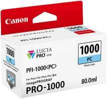 TINTA PIGMENTADA PHOTO CIANO PFI1000PC IPF PRO1000  80 ML  CANON - 0550C003AA