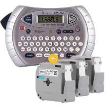Rotulador Eletrônico Portátil PT-70BM C/ 3 Fitas M231 de 12mm Preto Sobre Branco - Brother