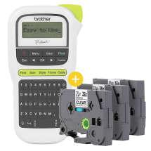Rotulador Eletrônico Portátil PT-H110 C/ 3 Fitas TZ231 Preto Sobre Branco - Brother