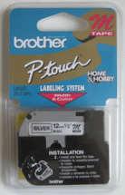 Fita p/ Rotulador M931 Preto sobre Prata - Brother