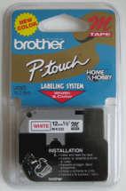 Fita p/ Rotulador MK232 Vermelho sobre Branco - Brother